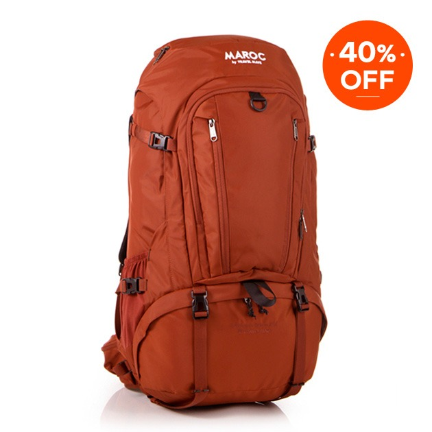 MAROC Travel Backpack 50L - Chebbi Red