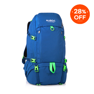 MAROC Travel Backpack 38L - Chefchaouen Blue