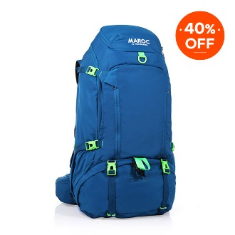 MAROC Travel Backpack 45L - Chefchaouen Blue